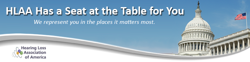 header graphic with text: HLAA Has a Seat at the Table for Y