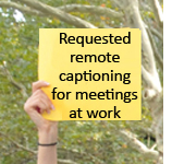 Call to Action example of a request for captioning