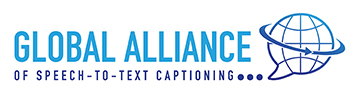 Global Alliance - of speech-to-text captioning logo