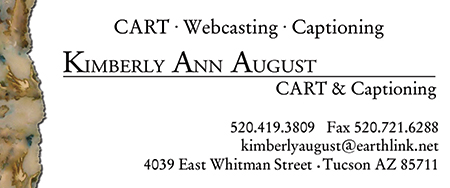 image of Kimberly Ann August CART & Captioning business